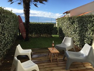 Sea view apartment 6 persons with terrace, garden, pool and tennis