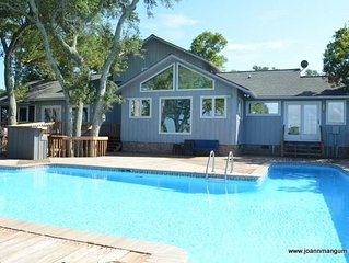 Featured Home with Swimming Pool and Boat Dock