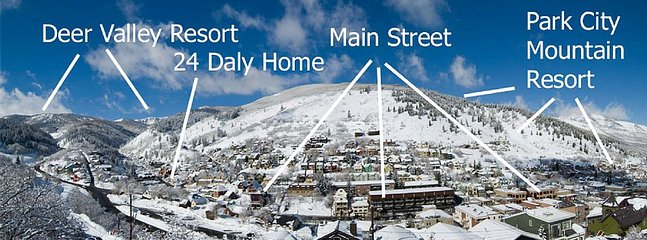 Proximity of home to Deer Valley Resort, Main Street & Park City Mountain .