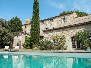 8 bedroom 12thC Priory in Provence countryside, next Mt. Ventoux & Rhone wines