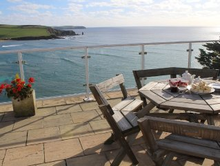 superb apartment with stunning sea views, private access to secluded beach