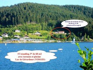 VOSGES Gerardmer location  60 m2 4* dans villa avec piscine, terrasse, skis WIFI
