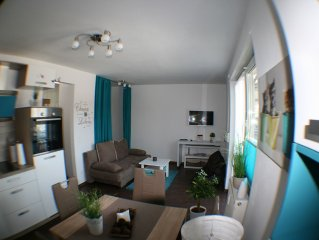 quality equipped apartment, centrally located in Fürth with balcony