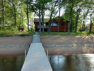Fall Fishing Available Private Home on Leech Lake w/Garage & Perfect Sand Beach