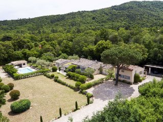 Luxury Family Villa + Guest Cottage with Pool in Hills/Vineyards Nr St Tropez