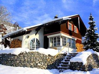 Haus Sonneck Bartholomaberg - Alpen Chalet mit fantastischem Panorama-Bergblick