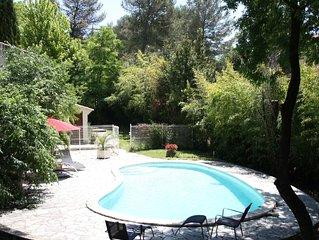 2 pieces+cuisine, jardin/piscine,au pied d'un golf pres de Montpellier
