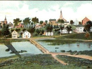 18th CENTURY ANTIQUE GARRET IN TOWN — Spectacular WATERVIEWS