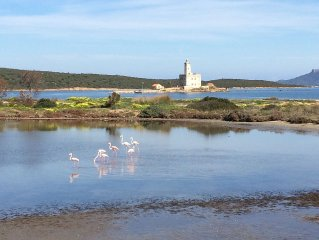 Spectacular view of the lagoon and lighthouse apartment 150 meters from the sea