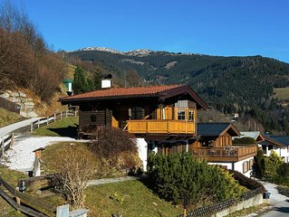 A detached chalet, close to the ski-run and near Zell am See and Kaprun.