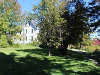 Stylish 4 bed farmhouse, privately set on 10 bucolic acres by Red Cottage Inc.