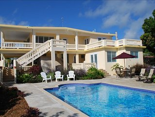 Hilltop Home with Breathtaking Ocean Views and Pool! 3 bedrooms or entire house