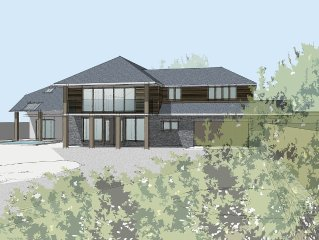 Stunning Modern Glass Fronted House, Exceptional Sea Views,Jacuzzi & Heated Pool