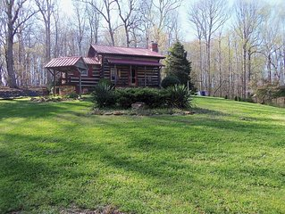 A secluded authenic early American cabin amid wineries, farms, and mountains.