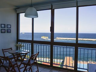 Central apartment with views. Views, sun, beach, city,WiFi. SANTA CRUZ TENERIFE