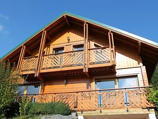 Chalet 10 people / 4 ch - Sauna / Jacuzzi - exceptional view - calm