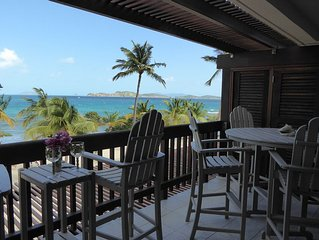 Two bedroom  beachfront condo at Sapphire Beach!