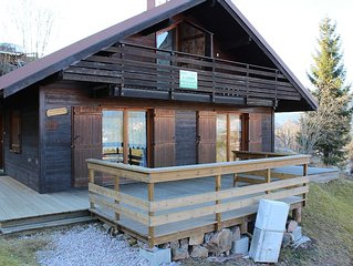 rents half -Chalet renovated with lovely views over the valley