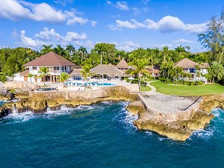 Luxury Ocean Front Estate 11 rooms within celebrity playground of Casa de Campo