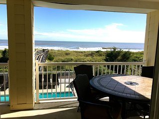 Beautiful Oceanfront Condo- In The Heart Of Isle Of Palms; Walk To Everything