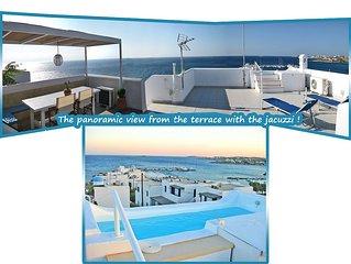 Seaside 2-Storey Villa with Large Terrace, Outdoor Jacuzzi & Garden