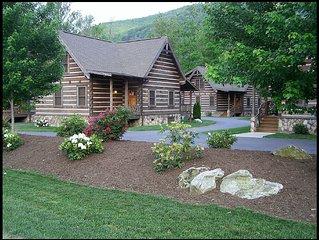 The Village #17: 2 BR / 2 BA two bedroom log cabin in Maggie Valley, Sleeps 6