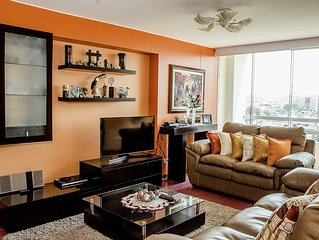 Elegant Apartment In Miraflores