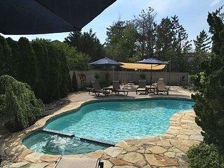 Luxury home, pool, bay views