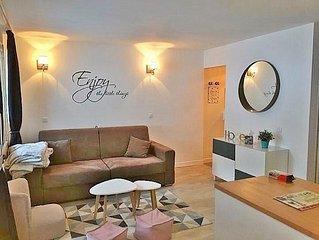 Belle Plagne 2050 m - station Heart Apartment + skis + parking