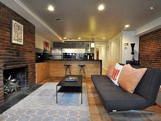 Modern English Basement Apartment In Washington's Most Trendy Neighborhood