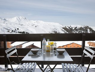 Belle Plagne, T2 renovated 3 crystals for 5 people, skis