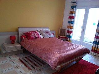 grande chambre a louer avec terrasse et garage, centre ville Perpignan