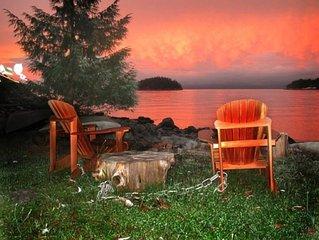 Waterfront Cottage Overlooking The Beautiful Malaspina Strait