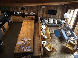 Chalet 3* renove gd confort et spacieux de 190m2 pr 15 ps. Valmeinier - Valloire