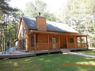 Log Home ideally located for your Minocqua vacation! Off water and pet-friendly!