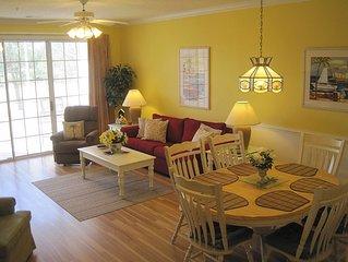 Beautiful BAREFOOT RESORT 2BR Golf Condo*Ground Floor*New Paint* 50''TV*2 Pools!