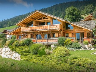 SNOWLODGE - Luxury La Clusaz ski chalet, swimming pool, gym, near slopes