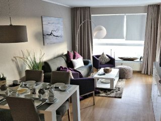 Chic apartment (up to 4 pers.) Best location 150m from the beach, large swimmin