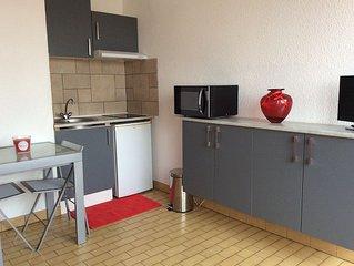 Promo semaine 29 studio balcon parking privé ds résidence Sécurisée Wifi a 210€!