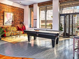 HEART OF DOWNTOWN..HUGE- Grand Loft..WALK to EVERYTHING! PRINTERS ALLEY LOFTS