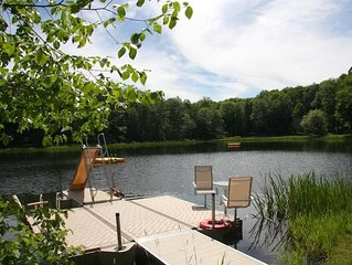 Deer Hill Farm: country estate on 225 ac. with swimming lake by Red Cottage Inc.