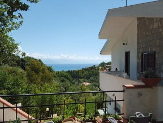 Scario - house overlooking the Gulf of Policastro
