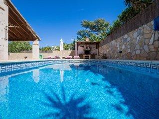 Colonia - Hubsches Haus mit Pool und Internet in Colonia San Pere