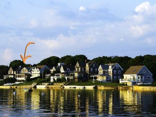Gracious Waterfront Cape Home with spectacular sunsets and private beach