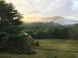 Spacious home on 48 private acres with beautiful views, near Sunday River, wifi