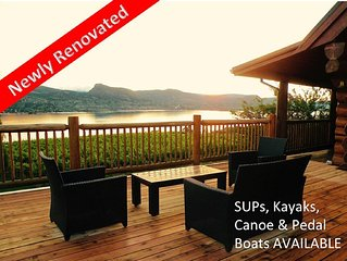 Private Waterfront Log B&B, 4BR, Naramata Bench,  In The Heart Of Wine Country