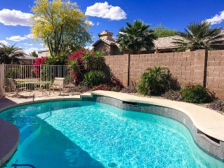Glendale Home with Resort Like Backyard - Covered Patio, Private Pool & Hot Tub