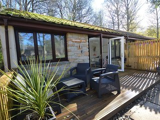 Comfortable bungalow in 100 acres of woodland, near St.Ives.