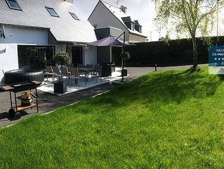 Large modern villa 8 people in St Malo close to the beach with sauna and jacuzzi