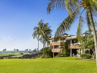 Mauna Lani Point Fairway and Ocean View - on 19 acre community with pool and spa